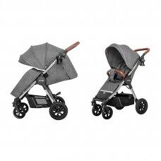 Коляска прогулочная с надувными колесами CARRELLO Supra CRL-5510 Carbon Grey(L) серый