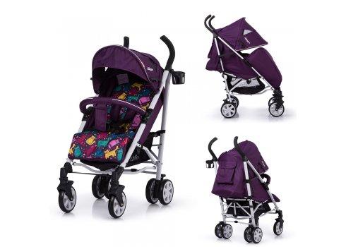 Детская прогулочная коляска-трость Carrello Allegro CRL-10101/1 Kitty Purple в льне
