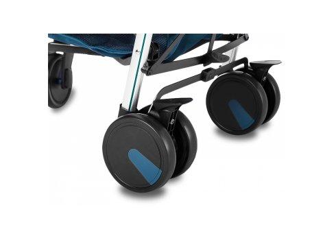 Прогулочная коляска-трость на алюминиевой раме Carrello Arena CRL-8504 Shadow Blue в льне