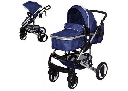 Детская универсальная коляска-трансформер El Camino Grande, ME 1006-4 синий
