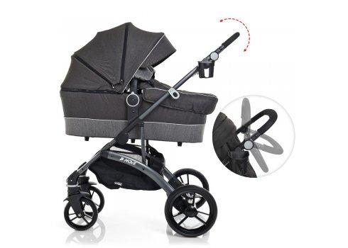 Детская универсальная коляска 2в1 на алюминиевой раме, El Camino B-Move ME 1021-11 серый