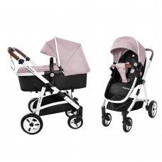 Детская универсальная коляска прогулочная 2в1 CARRELLO Fortuna CRL-9001/1 Coral Pink