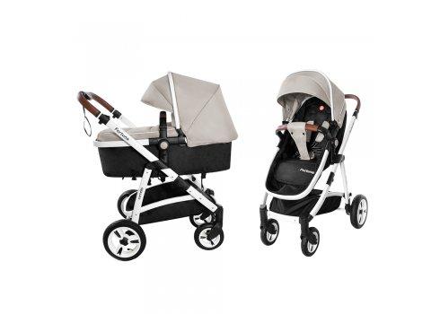 Детская универсальная коляска прогулочная 2в1 CARRELLO Fortuna CRL-9001/1 Peanut Beige
