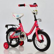 Детский двухколесный велосипед Corso 12 дюймов, С12030 розовый