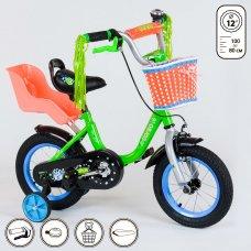 Детский двухколесный велосипед Corso 12 дюймов 1204 зеленый