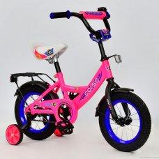 Детский двухколесный велосипед Corso 12 дюймов, С12050 розовый