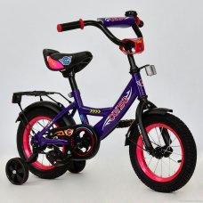 Детский двухколесный велосипед Corso 12 дюймов, С12080 сиреневый
