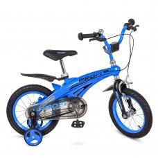 Детский двухколесный велосипед на магниевой раме Projective Profi 12 дюймов, LMG12125 синий