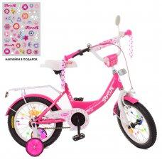 Детский двухколесный велосипед Profi Princess 12 дюймов XD1213 малиновый