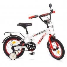 Детский двухколесный велосипед Profi Space 12 дюймов, T12154 бело-красный