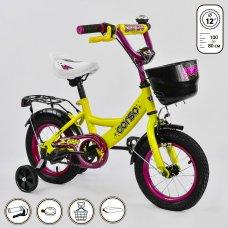 Велосипед двухколесный 12 дюймов CORSO G-12310 желтый