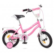 Детский двухколесный велосипед Profi Star 12 дюймов, Y1291 розовый