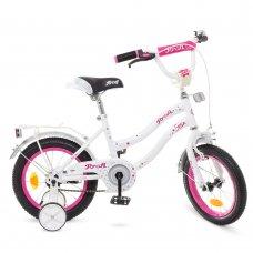 Детский двухколесный велосипед Profi Star 12 дюймов, Y1294 бело-малиновый