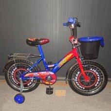 Детский двухколесный велосипед Azimut Тачки с корзиной 12 дюймов