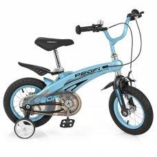 Детский двухколесный велосипед на магниевой раме Projective Profi 12 дюймов, LMG12121 голубой