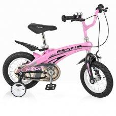 Детский двухколесный велосипед на магниевой раме Projective Profi 12 дюймов, LMG12122 розовый