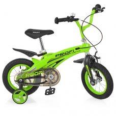 Детский двухколесный велосипед на магниевой раме Projective Profi 12 дюймов, LMG12124 зеленый