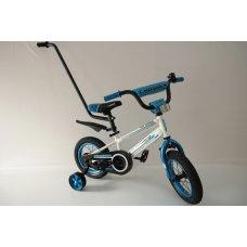 Детский двухколесный велосипед с родительской ручкой Crosser Sports РУ 12 дюймов