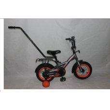 Детский двухколесный велосипед с родительской ручкой Street РУ Crosser 12 дюймов