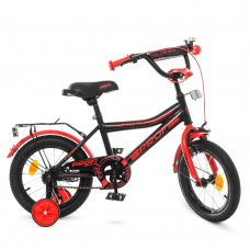 Детский двухколесный велосипед Profi Top Grade 14 дюймов Y14107 графитово-красный матовый