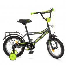 Детский двухколесный велосипед Profi Top Grade 14 дюймов Y14108 графитово-салатовый матовый