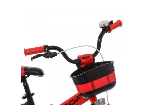 Детский двухколесный велосипед Profi Original W14115-5 черно-красный матовый