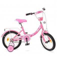 Детский двухколесный велосипед Princess Profi 14 дюймов, Y1411 розовый