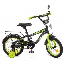 Детский двухколесный велосипед Profi Space 14 дюймов, T14152 черный матовый