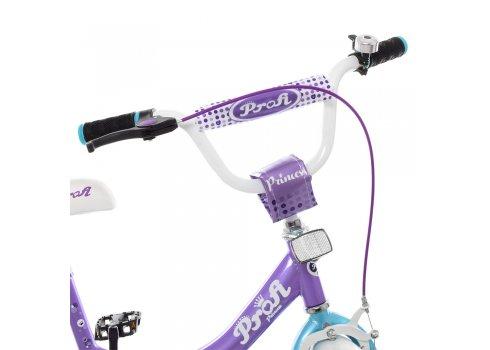 Детский двухколесный велосипед Profi Princess 14 дюймов Y1415 сиренево-мятный