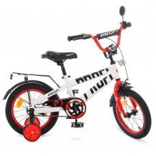 Детский двухколесный велосипед Profi Flash 14 дюймов, T14172 бело-красный