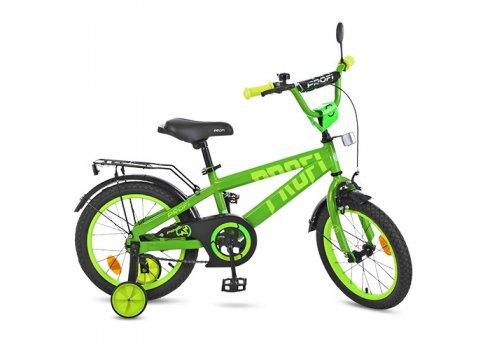 Детский двухколесный велосипед Profi Flash 14 дюймов, T14173 салатовый