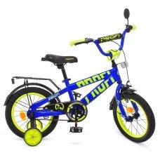 Детский двухколесный велосипед Profi Flash 14 дюймов, T14175 синий