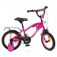 Детский двухколесный велосипед Profi Treveler 14 дюймов Y14183 малиновый