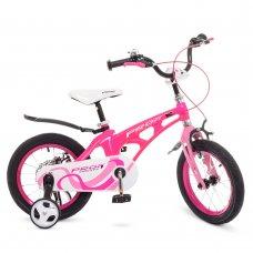 Детский двухколесный велосипед Profi Infinity 14 дюймов на магниевой раме, LMG14203 малиново-розовый