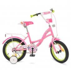 Детский двухколесный велосипед Profi Bloom 14 дюймов Y1421-1 розовый