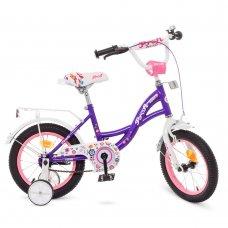 Детский двухколесный велосипед Profi Bloom 14 дюймов Y1422-1 фиолетовый