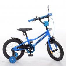 Детский двухколесный велосипед 14 дюймов PROFI Prime Y14223-1 синий