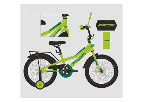Детский двухколесный велосипед 14 дюймов PROFI Prime Y14225-1 зеленый