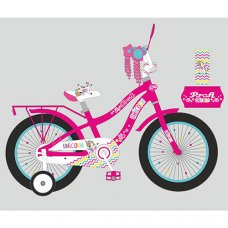 Детский двухколесный велосипед 14 дюймов PROFI Unicorn Y14242 малиновый
