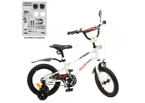 Детский двухколесный велосипед 14 дюймов PROFI Urban Y14251 белый матовый