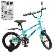 Детский двухколесный велосипед 14 дюймов PROFI Urban Y14253 бирюза матовый