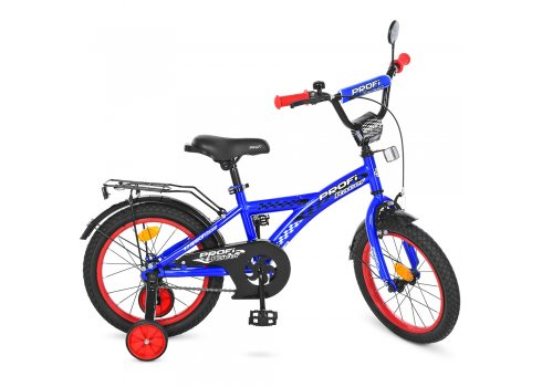 Детский двухколесный велосипед Profi Racer 14 дюймов, T1433 синий