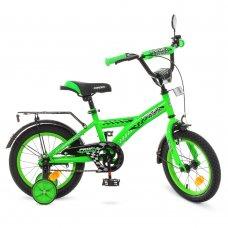 Детский двухколесный велосипед Profi Racer 14 дюймов, T1436 зеленый