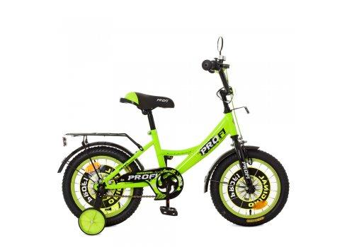 Детский двухколесный велосипед Profi Original boy 14 дюймов XD1442 зеленый