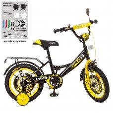 Детский двухколесный велосипед Profi Original boy 14 дюймов XD1443 желтый