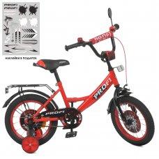 Детский двухколесный велосипед Profi Original boy 14 дюймов Y1446 красно-черный