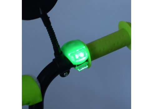 Детский двухколесный велосипед 14 дюймов Profi Inspirer SY1454 черно-бело-салатовый