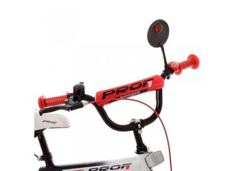Детский двухколесный велосипед 14 дюймов Profi Inspirer SY1455 черно-бело-красный