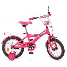 Детский двухколесный велосипед Profi Original girl 14 дюймов, T1462 малиновый