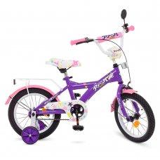 Детский двухколесный велосипед Profi Original girl 14 дюймов, T1463 фиолетово-розовый